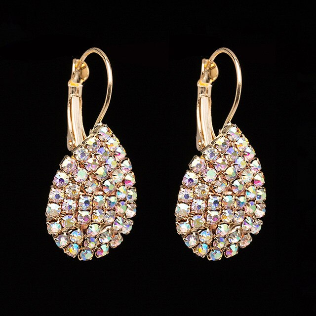 RHINESTONE MULTI-COLORED EARRINGS