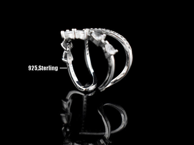 Double Layered V-Shaped Zirconia Rings