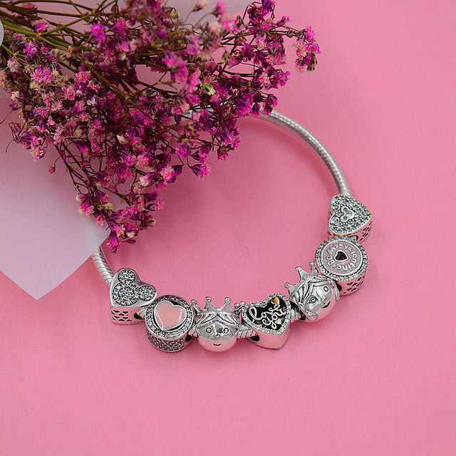 Stunning Heart Shaped Charm Bracelets