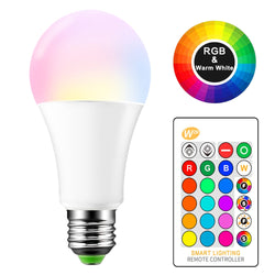 16 COLORS LED BULB WITH REMOTE CONTROL