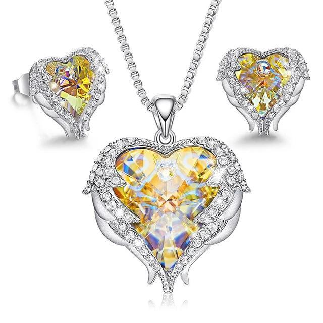 Love Heart Necklaces + Earrings from Swarovski