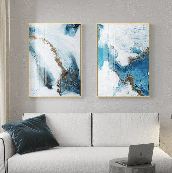 Nordic Splash Blue Canvas