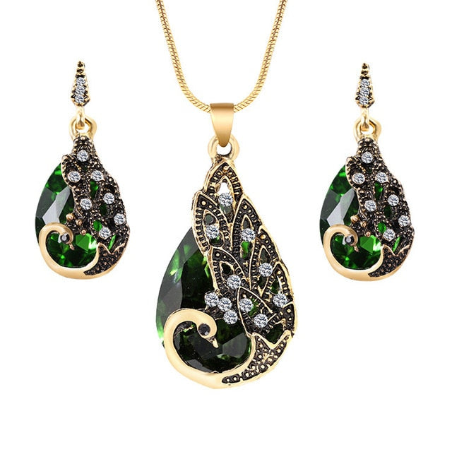Sterling Peacock Jewelry Set