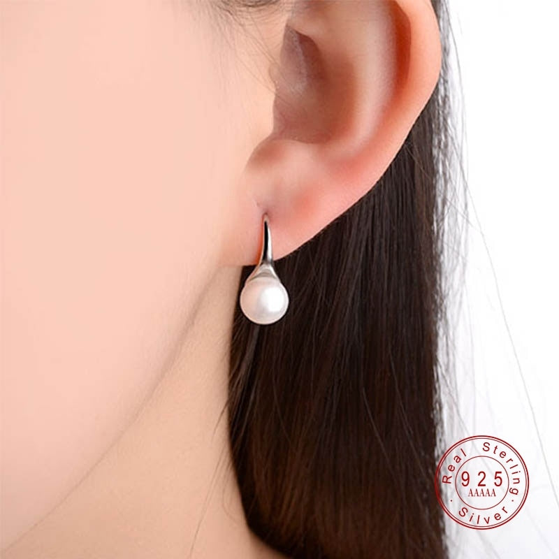 Sterling Silver Pearl Earrings For Women
