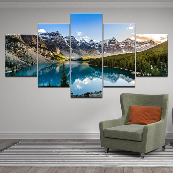 Moraine Lake Sunset Canvas