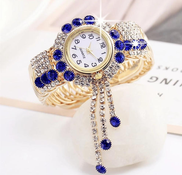 Rhinestone Watch Bracelet for Women