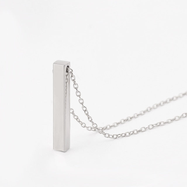 Personalized Square Bar Necklaces
