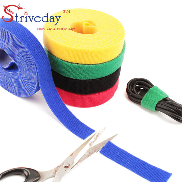 5 m / roll magic cable tie magic buckle width 1 cm /Velcroe line computer cable headset winder cable tie DIY