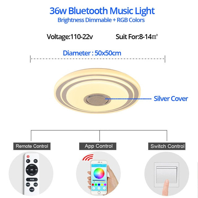 Premium Ceiling Light with Bluetooth Speaker