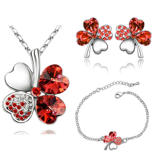 Austrian Crystal And Rhinestone Jewelry Set