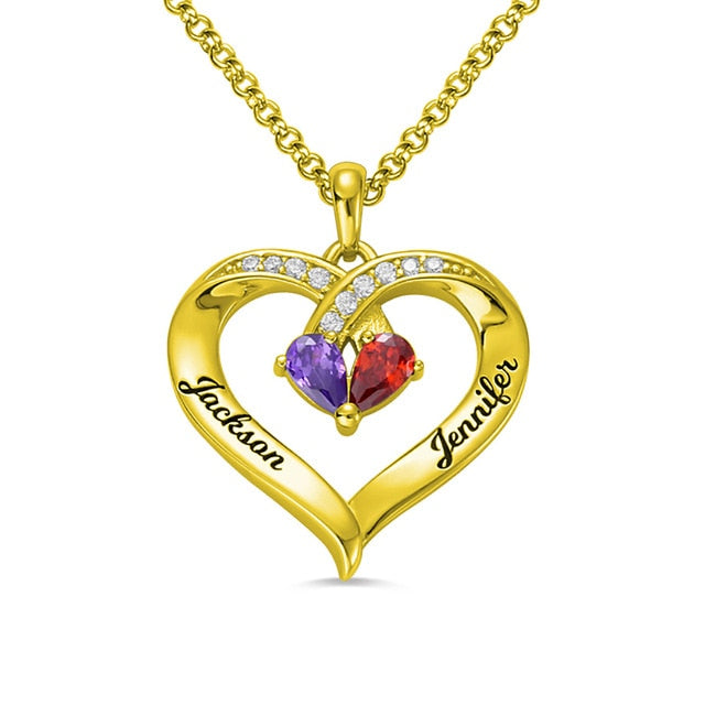 FOREVER TOGETHER CUSTOM HEART NECKLACES