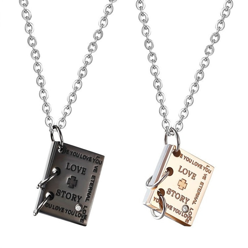 Eternal Love Titanium Steel Necklaces