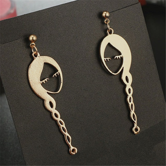 FACE SHAPED GEOMETRIC EARRINGS