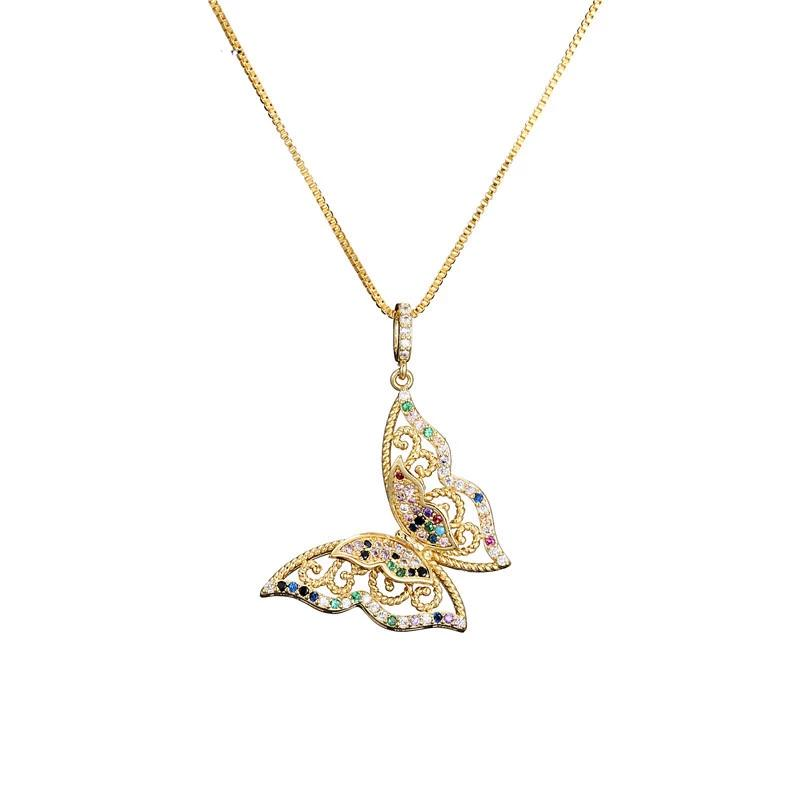 Butterfly Crystal Necklace For Women