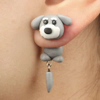 Handmade Dog Stud Earrings
