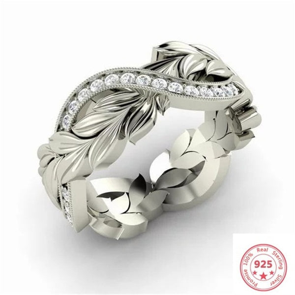 Luxury Sterling Silver Diamond Ring for Women