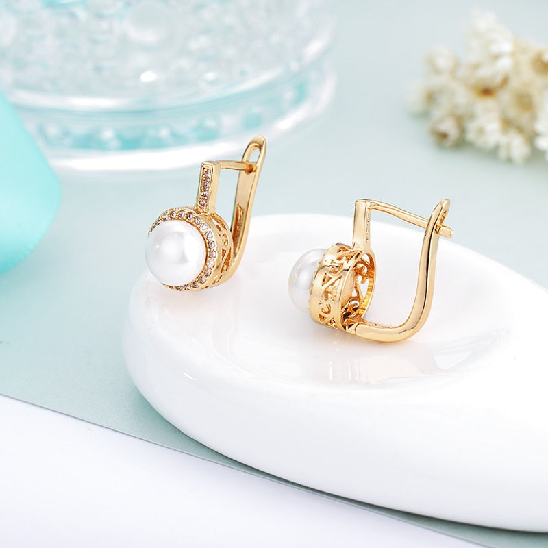 Romantic Pearl Stud Earrings For Women