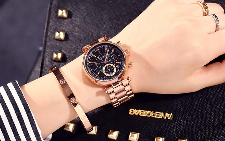 Waterproof Three-Eyes Wrist Watch Bracelet