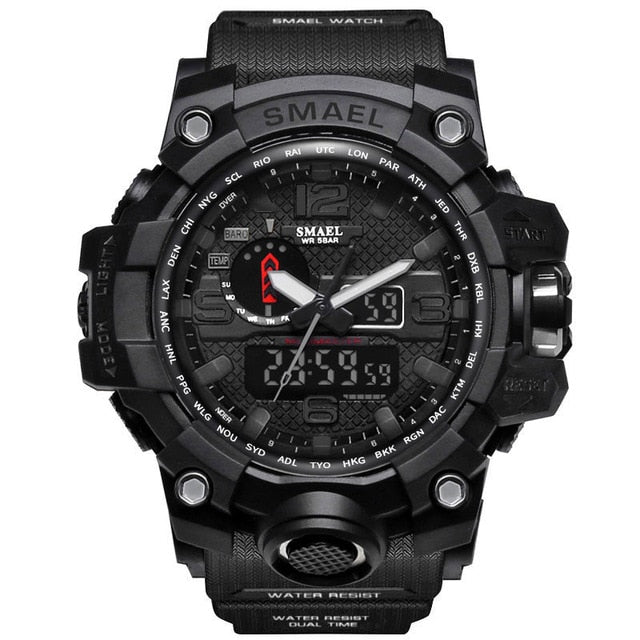 50m Waterproof Men Military Watch