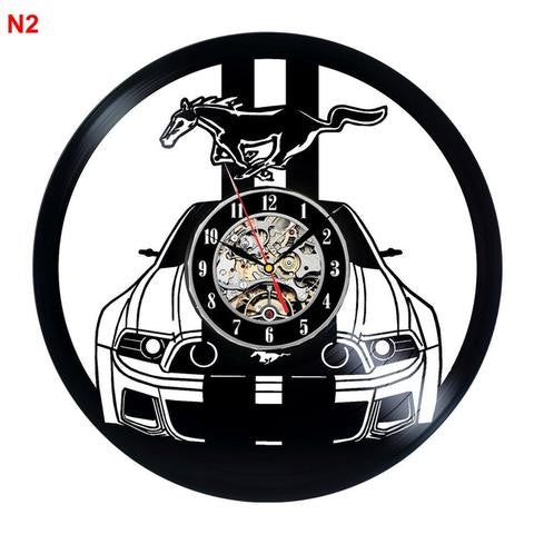 Ford Mustang Vinyl Wall Clock