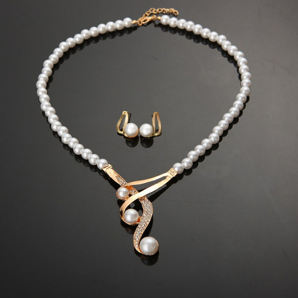 New European-american Pearl Jewelry Set