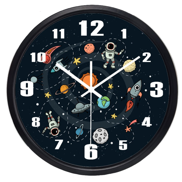 Space Cartoon Wall Clock