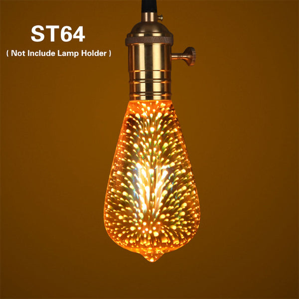 3D Star Fireworks LED Decoration Lamp