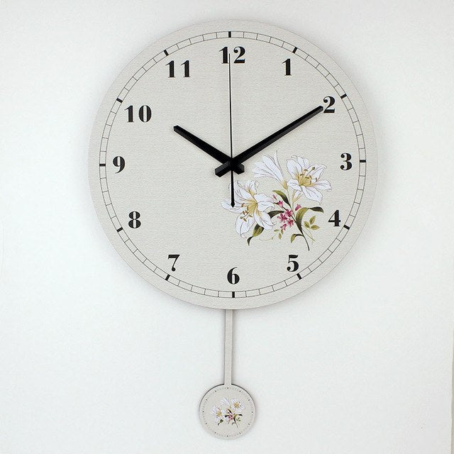 Garden Flower Wall Clock