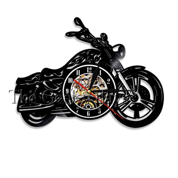 Motorcycle Vinyl Wall Art Wall Clock