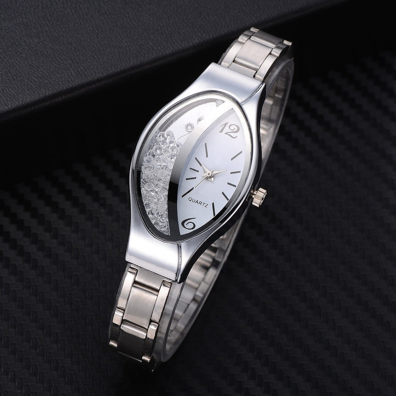 Ellipse Rhinestone Bracelet Watch