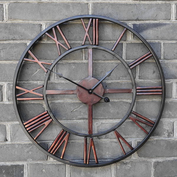 Retro Roman Iron Wall Clock