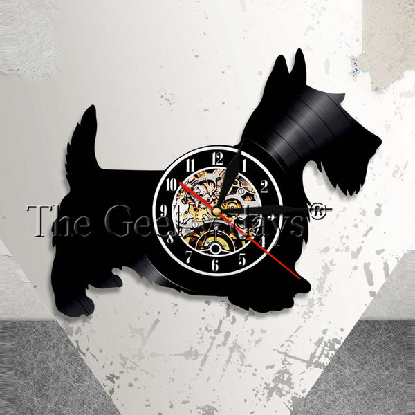 Scottie Dog Vinyl Wall Clock