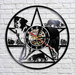 Collie Dog Vinyl Wall Clock