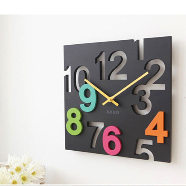 Hollow Digits Wall Clock
