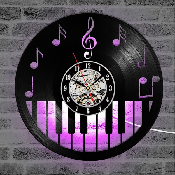 Piano Vinyl Wall Clock