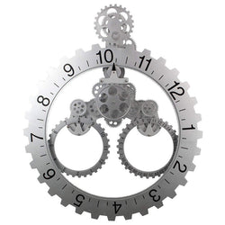 Mechanical Gear Stainless Steel Wall Clock