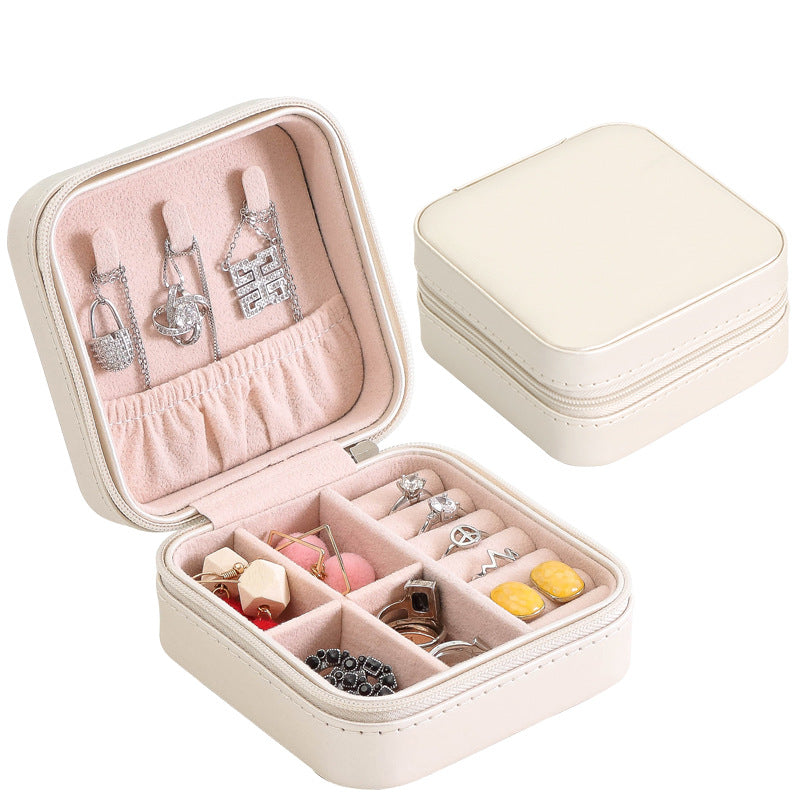 Small Leather Multi-function Jewelry Storage Box