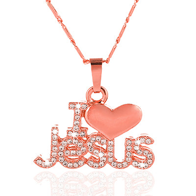 `I LOVE JESUS' PENDANT FOR WOMEN