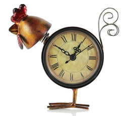 Tooarts Chick Metal Table Clock