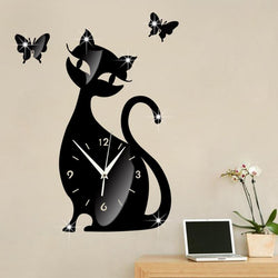 Cat Acrylic Wall Clock