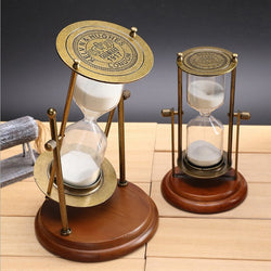 Wooden Frame Rotating Hourglass