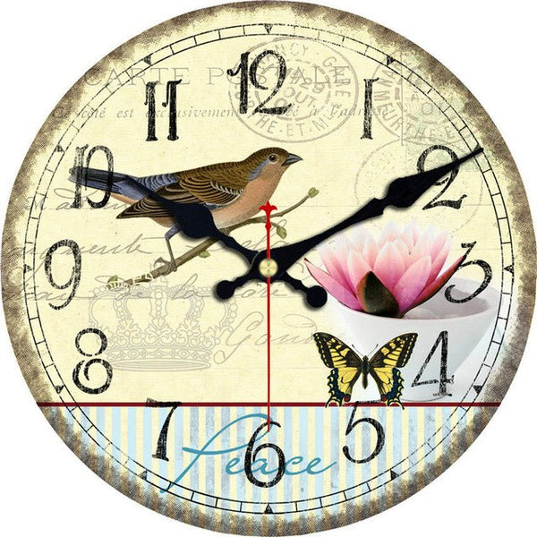 Magpie Wooden Cardboard Wall Clock