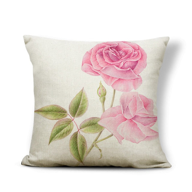 Flower Hydrangea Chair Cushion