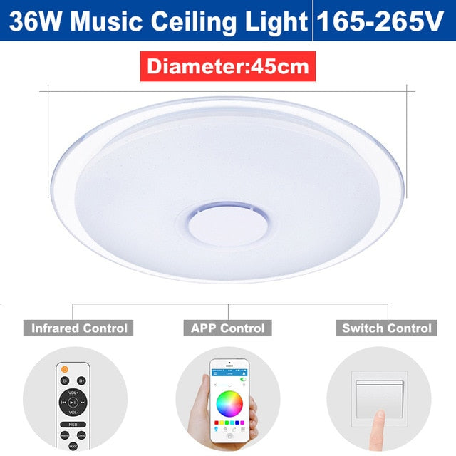 Dimmable Led Music Ceiling Light