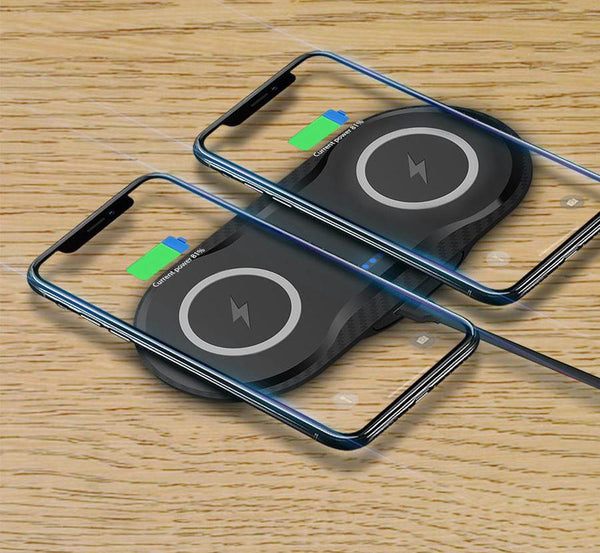 5W Dual QI Wireless Charger Pad