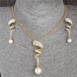 Curvy Crystal Jewelry Set