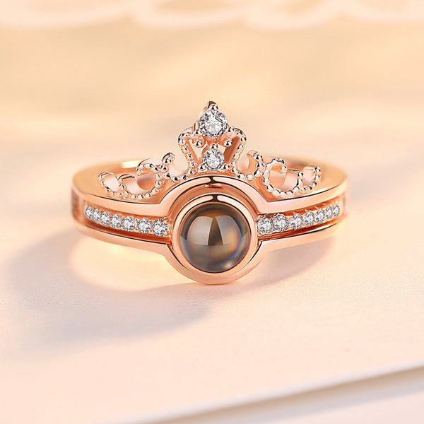 Crown Shaped Love Memory Rings