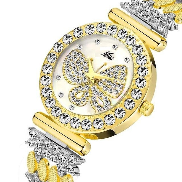 Diamond Butterfly Bracelet Watch