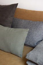 Suki melange pillow - linen - grey