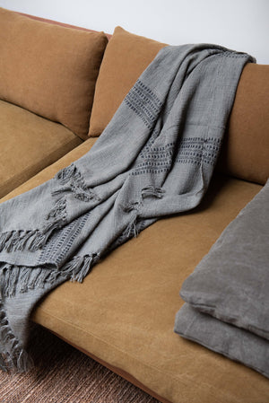 Fero throw - cotton - grey